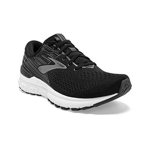 Brooks Mens Adrenaline GTS 19 Running Shoe - Black/Ebony/Silver - D - 12.0