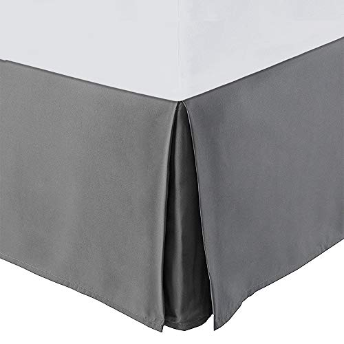 Balichun Ultra Soft Bed Skirt - Premium King Size Grey with 15 Inch Drop Hotel Quality,Hypoallergenic, Wrinkle and Fade Resistant ()