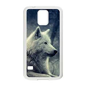 GGMMXO Gray Wolf Shell Phone Case For Samsung Galaxy S5 i9600 [Pattern-1]