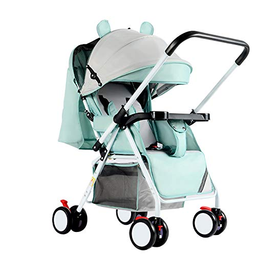 C+Q Lightweight Travel Baby Stroller Pram, Compact Convertible Luxury Pushchair Baby Carriage, Oversized Storage Basket, Blanket Boot, for Newborn and Toddler,4