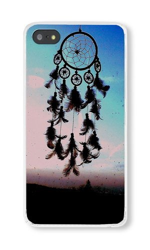 iPhone 5S Case, Transparent PC Hard Phone Cover Case For iPhone 5S With Dream Catcher Theme Style b Phone Case