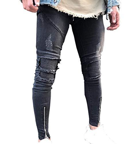 Fashion Uomo L Slim Comodi Fit Da Blue Pantaloni Dritti Skinny Ssig Elastici Cotton Morbidi Jeans Alti w5CXtZqZ