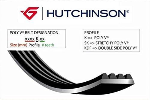 HUTCHINSON 1237 K 4 Courroie Poly-V