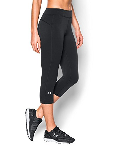 Under Armour Women's HeatGear Armour Capri, Black (001), Small (Under Armour Capri Pants compare prices)