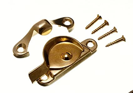 Cupboard Turn Catch Latch 50mm Eb Brass Plated Fixings Pack Of 12 Building & Hardware