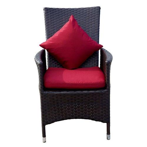 OUTFLEXX Sessel aus Polyrattan, beliebig verstellbar dank Gasdruckfeder, 2er Set in braun