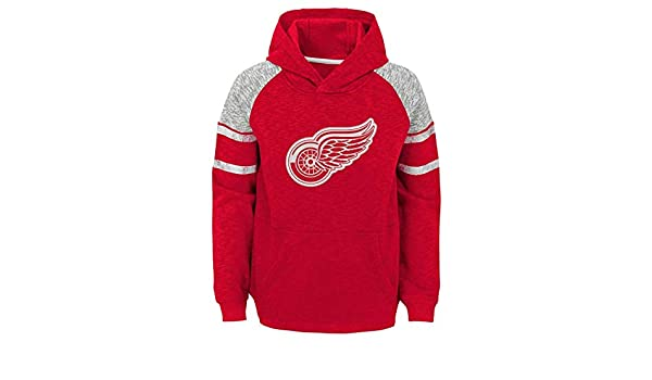 90b402f6 Amazon.com : Detroit Red Wings Youth NHL Left Winger Hooded Pullover ...