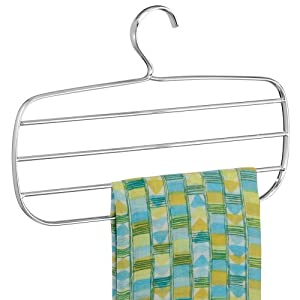 InterDesign Horizontal Scarf Holder, Chrome