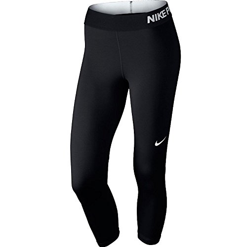(Nike Women's Pro Cool Capris, Black/White, MD )