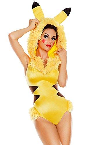 Party King Women's Collectible Animé Cutie Costume, Yellow, Medium