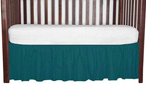 (Gathered Crib Dust Ruffle, Peacock 15