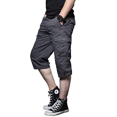Cargo Shorts Men's Big-Tall Belted Cargo Short Men's Utility Hiker Short Summer (Utility Pants Mens Short)