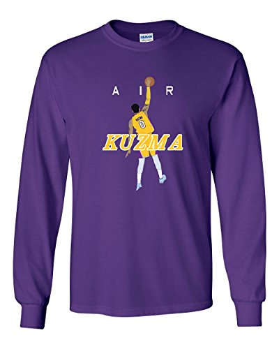 Long Sleeve Purple Los Angeles Kuzma AIR T-Shirt Adult