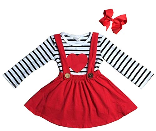 e36b0eaebc65 eKooBee Infant Baby Girls Valentines Day Outfits Ruffle Pant Set ...
