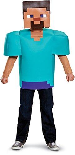 Steve Classic Minecraft Costume, Multicolor, Small (4-6)