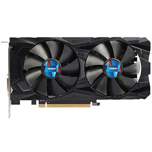 MChoice Yeston Radeon RX 550 GPU 4GB GDDR5 128bit Gaming Desktop Computer PC Video Graphics Cards Support DVI/HDMI