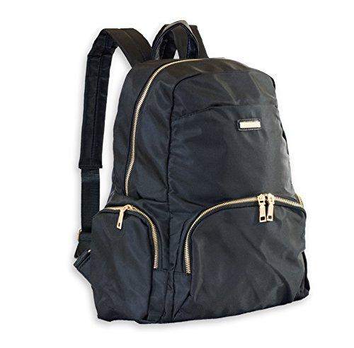 Girls Black Fashion Backpack Stylish School Bag Made of Waterproof Nylon Material