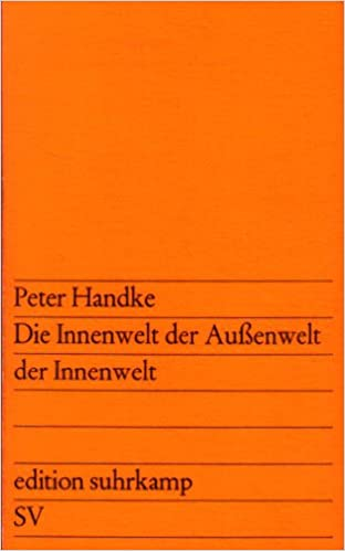 Die innenwelt der aussenwelt der innenwelt: Amazon.es: Handke, Peter: Libros