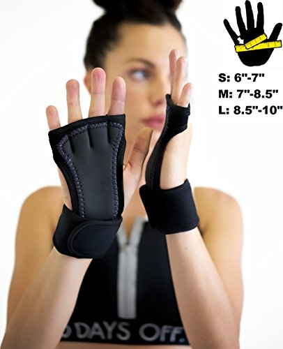 Sisyama Padded Grip Wrist Support Workout Gloves Yoga Pilates Weight Lifting Fitness WOD Cross Training Crossfit Gym Men Women – DiZiSports Store