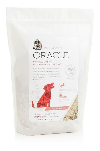Dr. Harvey's Oracle Freeze-Dried Raw Complete Diet for Dogs, Beef, 3-Pound Bag, My Pet Supplies