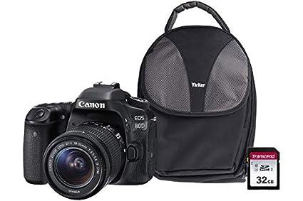 Canon EOS 80D SLR Camera Kit Inc EF-S 18-55mm IS STM Lens, 32GB SD ...
