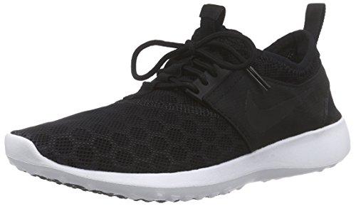 Nike Women's Juvenate Black/Black/White Running Shoe 8 Women US (Womens White Nikes Shoes)