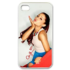 Diystore Hard Plastic American Actress And Pop Singer Ariana Grande iPhone 4 4S Case
