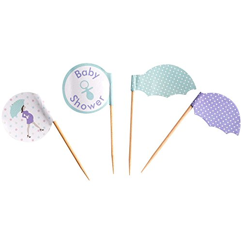 Showered With Love Cupcake Picks. Baby Shower. Pack Of 20 by Showered With Love