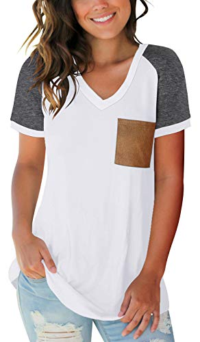 SAMPEEL Womens Short Sleeve T Shirts Summer Casual Tunic Tops