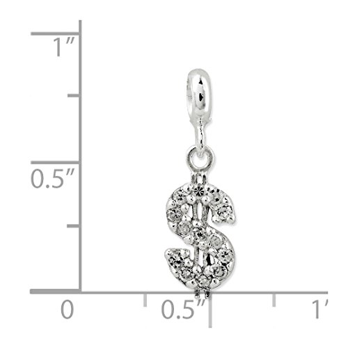 ICE CARATS 925 Sterling Silver Cubic Zirconia Cz Dollar Sign Enhancer Necklace Pendant Charm Fine Jewelry Ideal Gifts For Women Gift Set From Heart by ICE CARATS (Image #3)