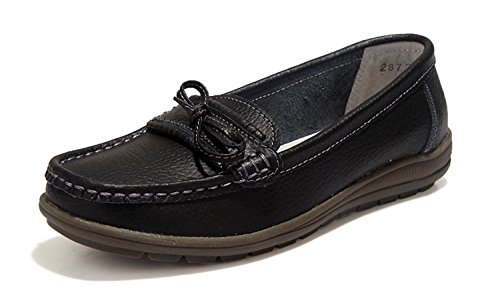 UNN Women Driving Loafers Slip On Soft Walk Flats Moccasins Anti-skid Boat Shoes
