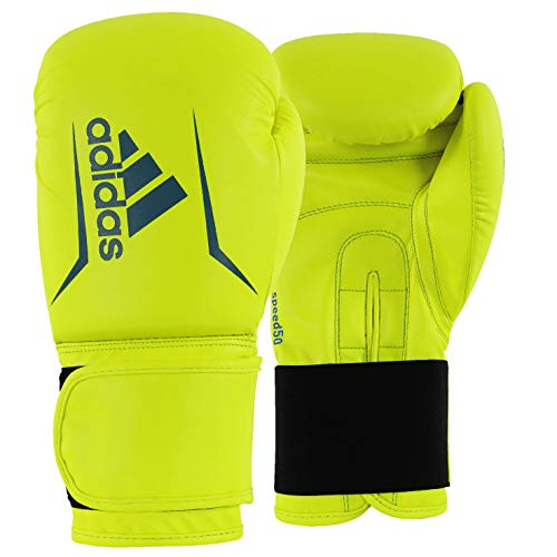 adidas FLX 3.0 Speed 50 Bag Gloves, Solar Yellow/Blue, 10 oz