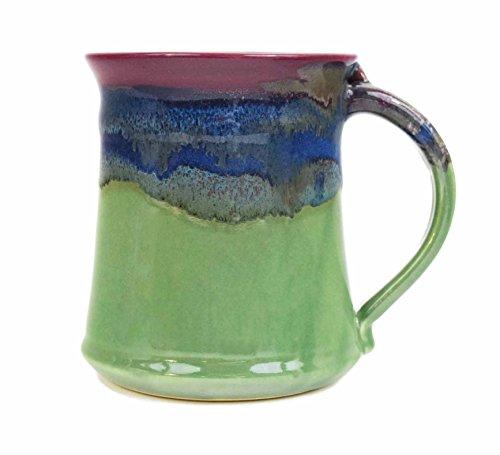Clay In Motion Handmade Ceramic Medium Mug 16oz - Mossy (Handmade Ceramics)