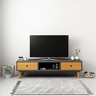 UnfadeMemory Mueble para TV con 2 Cajones y 1 Compartimento,Mesa ...