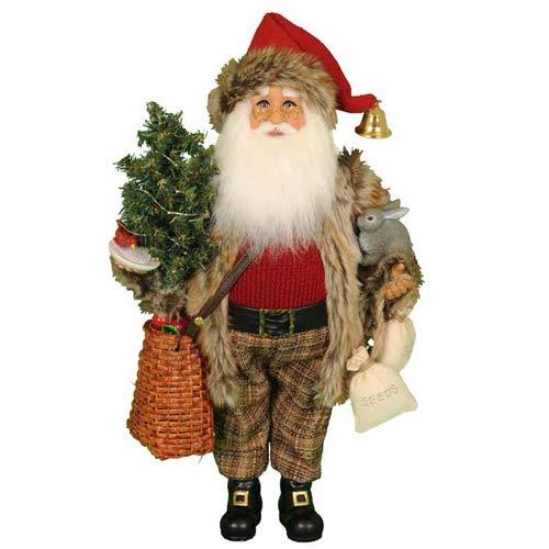 Karen Didion Lighted Woodland Friends - Santa Didion Karen