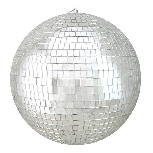 Northlight Silver Splendor Shatterproof Mirrored Glass Disco Ball Christmas Ornaments 12