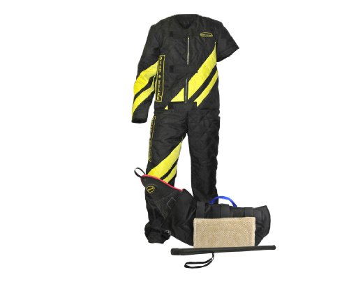 Dean & Tyler 3-Piece Pro Bundle Set, Includes Large Scratch Suit/Tri Level Bite Sleeve/Agitation Stick for Training Fully Grown Dogs