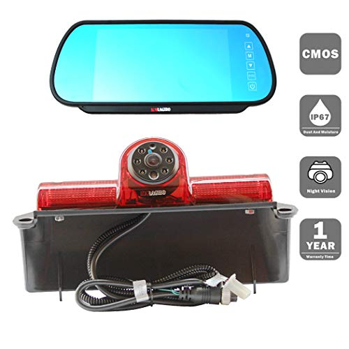 KNRAGHO Chevrolet Camera kit Third Brake Light Placement Camera with Monitor for Chevrolet Express GMC Savana Cargo Van (with Monitor)