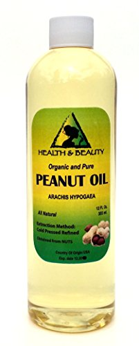 Peanut Oil Refined Organic Carrier Cold Pressed 100% Pure 24 oz