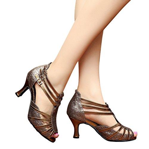 Cxs Ladies Open Toe Party Tacchi Da Sposa Scarpe Da Ballo Per Salsa Tango E Pratica, Tacco 2,75