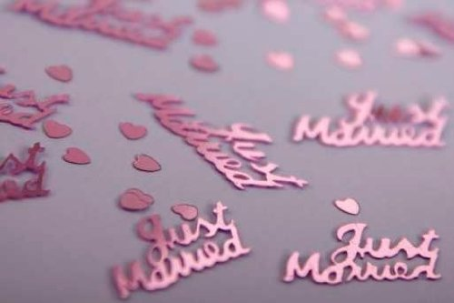 4 x Just Married Pink Wedding Table Confetti New Confetti Heaven