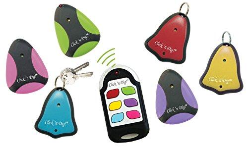 Click 'n Dig Model F6 Key Finder. 6 Receivers. Wireless RF Remote Item, Wallet Locator. by Click n dig