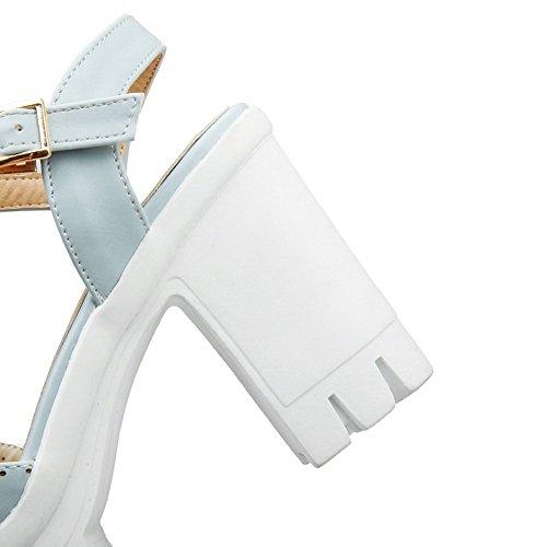 Adee Mujer ankle-cuff Open-toe sandalias Poliuretano Azul - azul