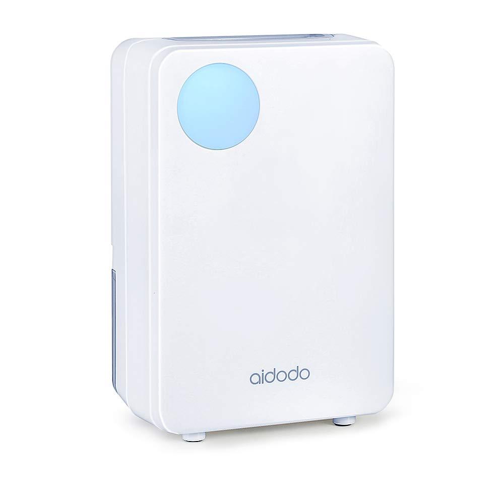 Aidodo Deshumidificador electrico Portátil 800ml Mini silencioso Deshumidificadores de Aire Compacto Inteligente Perfecto para Hogar Salón Habitación Oficina Blanco