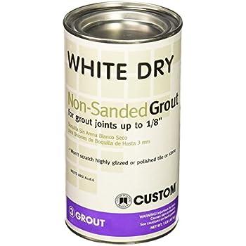 Custom Building Product WDG1  1lb White Non-Sanded Tile Grout