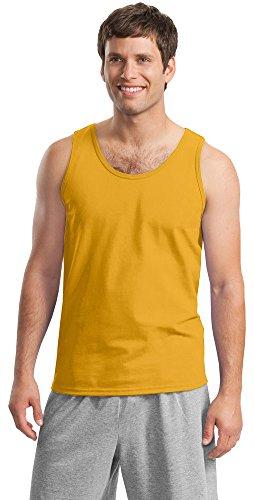 Gildan Mens Ultra Cotton Tank Top, 2XL, Gold