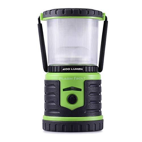 Blazin' Bison Brightest Rechargeable LED Lantern | 400 Hour Runtime | Phone Charger | Hurricane, Emergency, Storm (400 Lumen, Green)