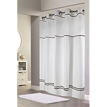 Amazon.com: Hookless RBH40MY040 Monterey Shower Curtain - White ...