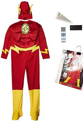 Rubie's DC Comics Deluxe Muscle Chest The Flash Child's Costume, Medium -