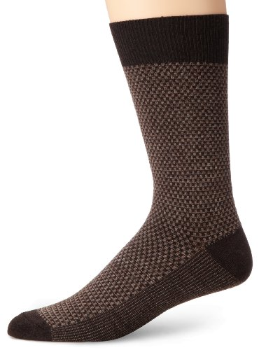 Goodhew Men's Ziggy Crew Sock, Large/X-Large, Espresso